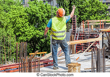 Worker on the construction site