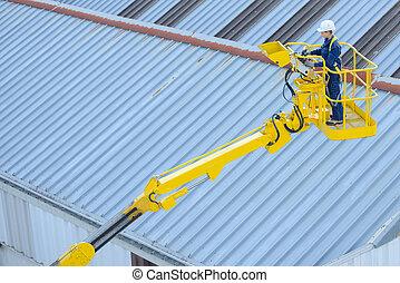 worker on the platform