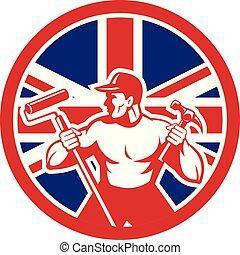 worker paintroller hammer CIRC-UK-FLAG-ICON