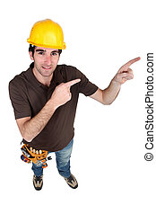 Worker pointing