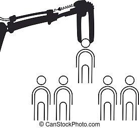 worker select illustration