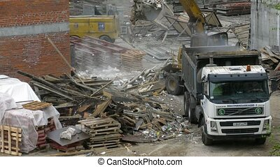 Worker take away rubbish