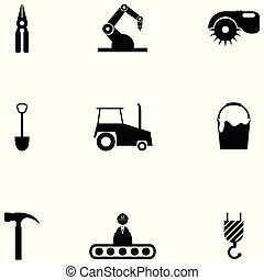 worker tool icon set