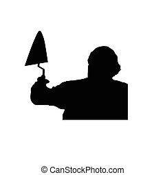 worker vector silhouette