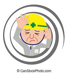 Worker who feels dizzy