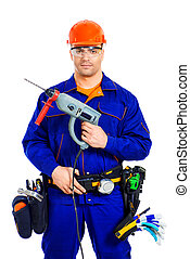 worker with a drill