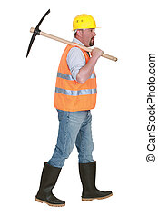 Worker with a pickaxe