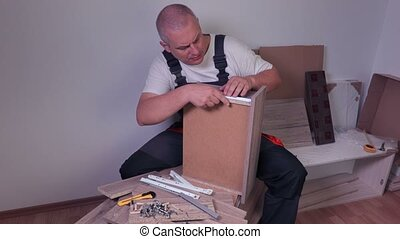 Worker with drawer and furniture fittings