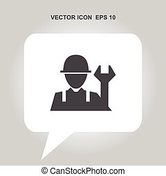 worker with work tool vector icon