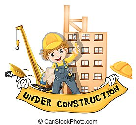Worker working at the construction site
