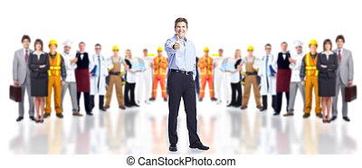 workers., βιομηχανικός , σύνολο