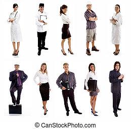 workers, -, группа, of, люди