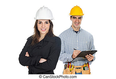 workers, строительство, команда