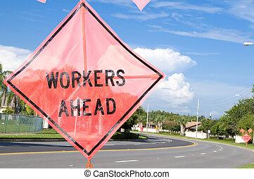 Workers Ahead