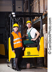 Workers at warehouse
