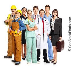 workers - Business people, builders, nurses, doctors,...