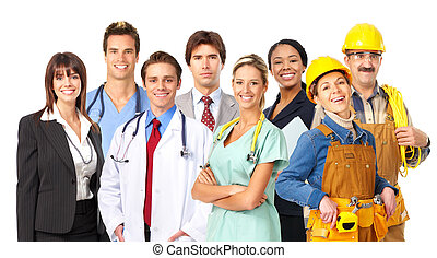 Workers - Business people, builders, nurses, doctors, ...