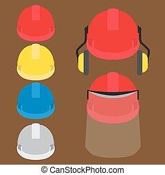 worker's, capacetes