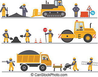 Workers - Construction workers. Vector for you design