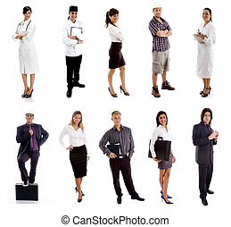 Workers - group of People - group of People on white...