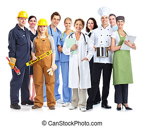workers., industrial, grupo