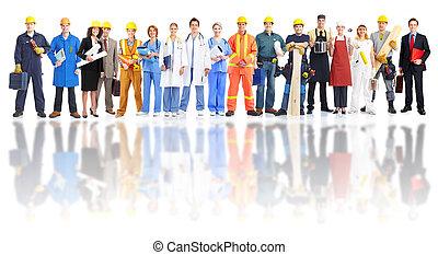 workers., industrial, grupo