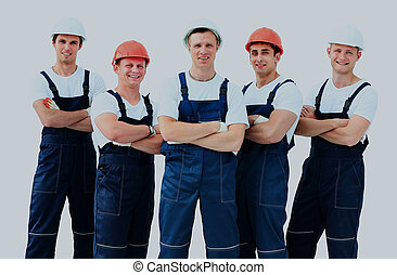 workers., industrie, gruppe, professionell