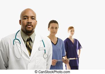 workers., médico, cuidados de saúde