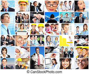 workers people - Set of smiling workers people. Business...