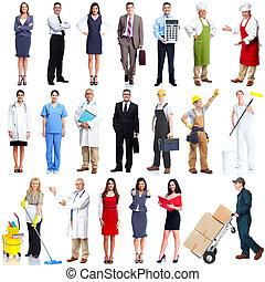 Workers people set.