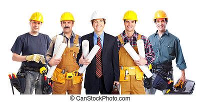workers., przemysłowy, grupa