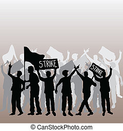 Workers strike