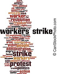Workers' strike word cloud
