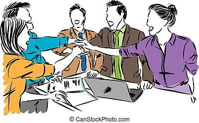 workers team work concept vector illustration