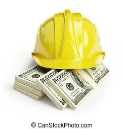 workers' wages on a white background