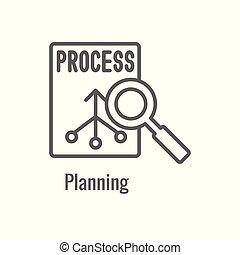 workflow, pictogram, aspect, het tonen, doelmatigheid