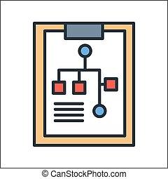 workflow process icon color