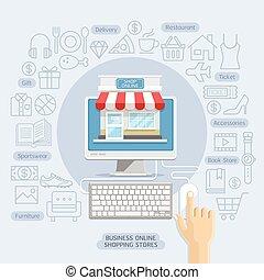 workflow, projektować, opcje, używany, infographics, płaski...