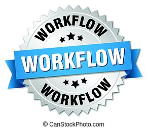 workflow round isolated silver badge