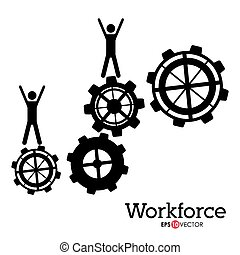 Workforce design over white background, vector illustration