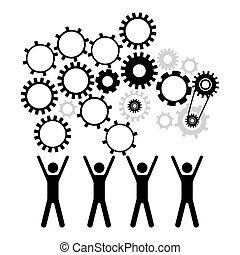 Workforce design over white background, vector illustration