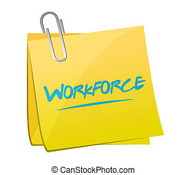 workforce memo post sign concept
