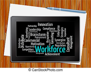 Workforce Word Showing Human Resources 3d Illustration