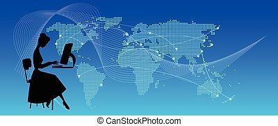 work|global, en línea, communication|, n
