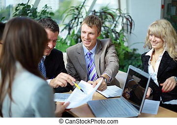Workgroup interacting in a natural work environment