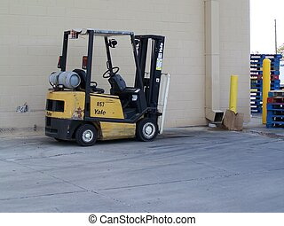 Workhorse - This editorial picture of a forklift was taken...