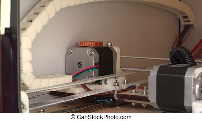 Working 3d printer.