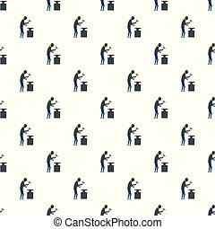 Working backsmith pattern seamless vector