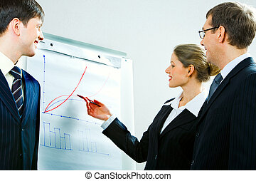 Working briefing - Image of successful woman explaining a...
