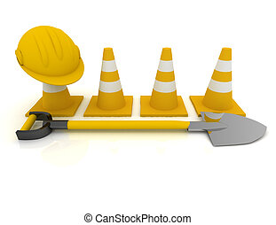 Working concept isolated on white . 3d rendered illustration